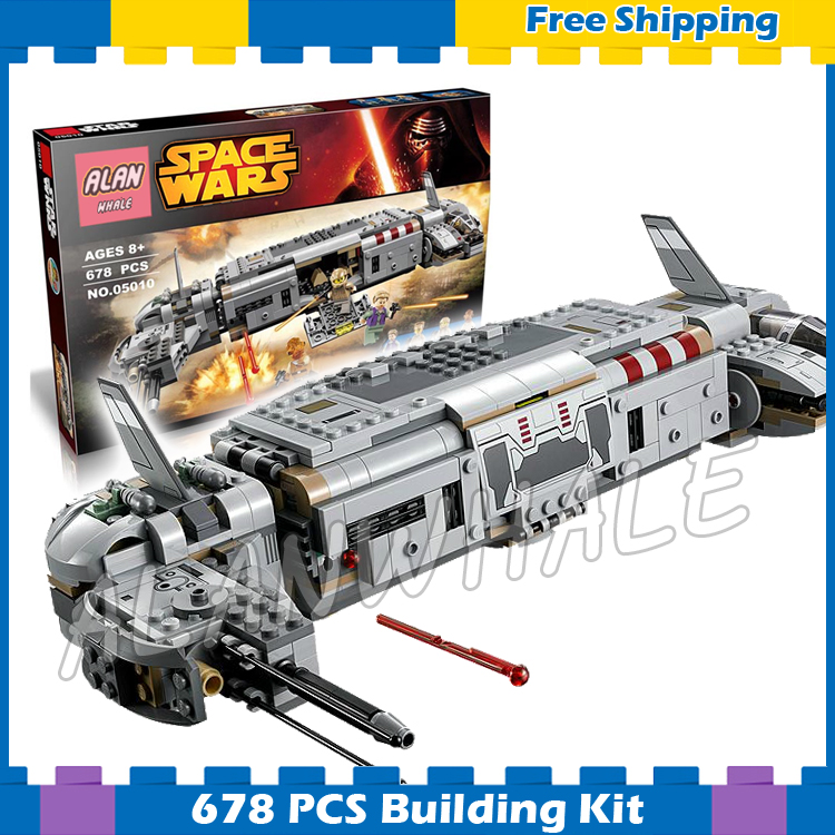 678pcs New Space Wars Resistance Troop Transporter 10577 Assemble Model Building Blocks Gifts Sets Bricks Compatible With Lego kazi 608pcs pirates armada flagship building blocks brinquedos caribbean warship sets the black pearl compatible with bricks