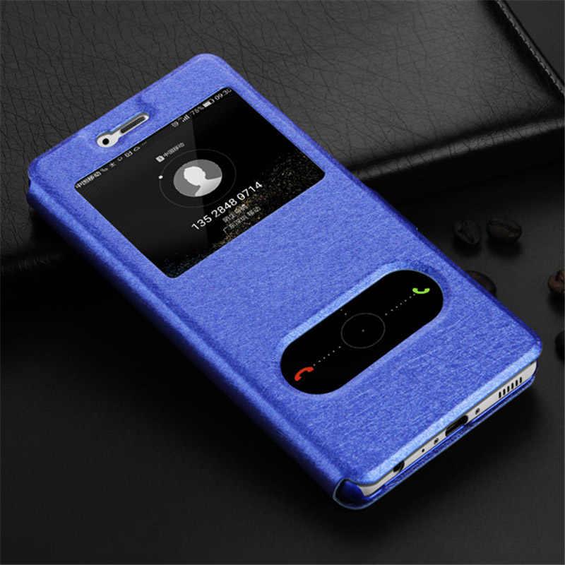 Wallet Flip Case for Huawei on Honor 7A 6C Pro 7C 7X 6A 9 10 P Smart P20 P8 P9 P10 Lite Luxury Window View Leather Case Y6 2018