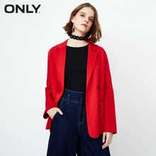 ONLY women's spring new casual double-breasted loose suit jacket 118108525