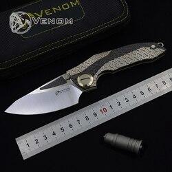 VENOM ARMATURA coltello pieghevole M390 lama titanium di campeggio esterna di sopravvivenza di caccia della tasca da cucina frutta della lama di edc STRUMENTO di coltelli