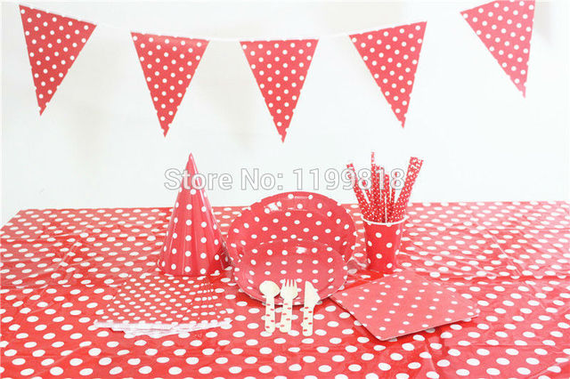 Paper Cups Bags Plates Straws Paper Napkins Flags Hats Plastic Tablecloth Wooden Utensil Red Polka Dot  sc 1 st  AliExpress.com & Paper Cups Bags Plates Straws Paper Napkins Flags Hats Plastic ...