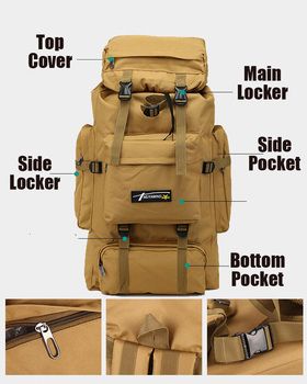 70L Outdoor Backpack Molle Military Tactical Backpack Rucksack Sports Bag Waterproof Camping Hiking Backpack For Travel 3