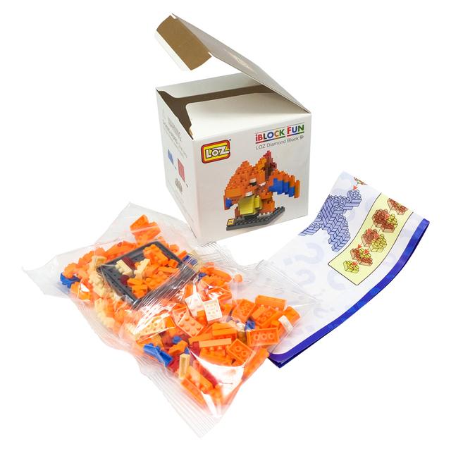 LOZ  Blocks educational toys Pikachu Charmander Bulbasaur Squirtle Mewtwo anime Toys for children Christmas birthday gifts kids