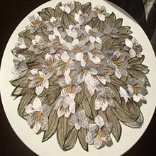 De estilo europeo pastoral mantel doble capa negro hilo bordado mantel flor manteles café estera esteras de tabla Coaster
