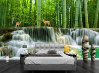3d photo wallpaper for size customize Bamboo forest room background wallpaper