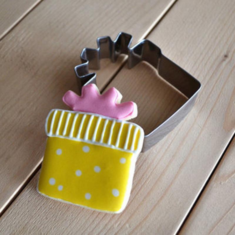Christmas Gift Box Design Stainless SteelMold Fondant Cake Topper ...