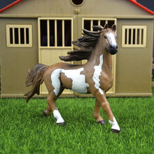 Original genuine Wild farm Animal Pint stallion horse Figurine figure Model kids toy collectible(China)