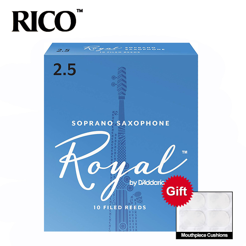 RICO Royal Sax Soprano Reeds, Strength 2.0#, 2.5#, 3#,10pcs Soprano Saxophone Reeds