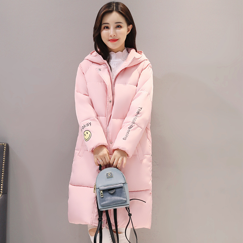 Large Size  Winter Jacket Women Medium-long Winter Jacket Warm Parka Casual Cotton Padded New Hooded Patch Designs Loose TT3159 winter hooded warm medium long parka slim fashion winter coat women large size cotton padded winter jacket overcoat tt3320