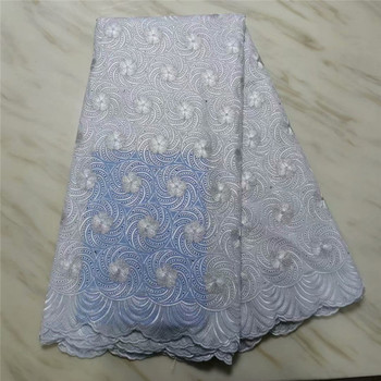African swiss lace latest with stone swiss voile lace in switzerland nigerian lace fabrics for dress cotton lace dress pl14-56