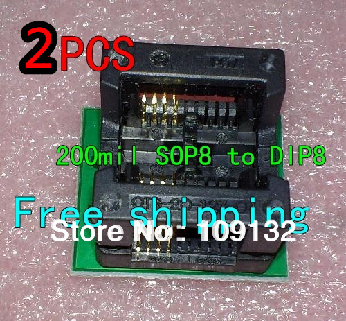 SOP8 TURN DIP8 WIDE SOP8 to DIP8 Programmer adapter Socket Converter for  SOP8 Wide 200mil 208mil (Wide)
