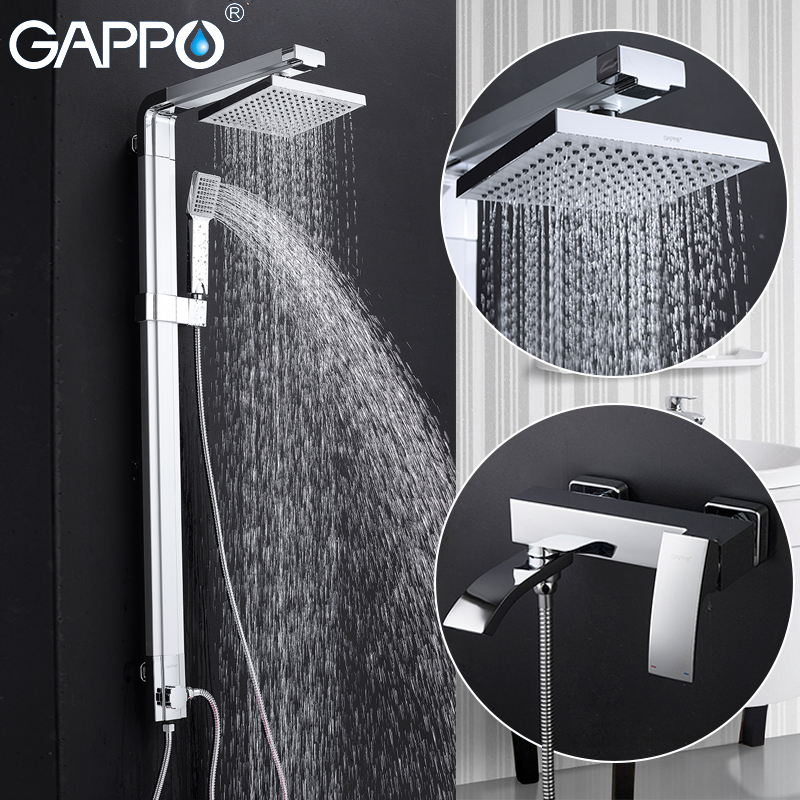 GAPPO shower faucet shower taps bathroom faucet mixer brass bathtub mixer wall mounted rainfall shower set купить в Москве 2019
