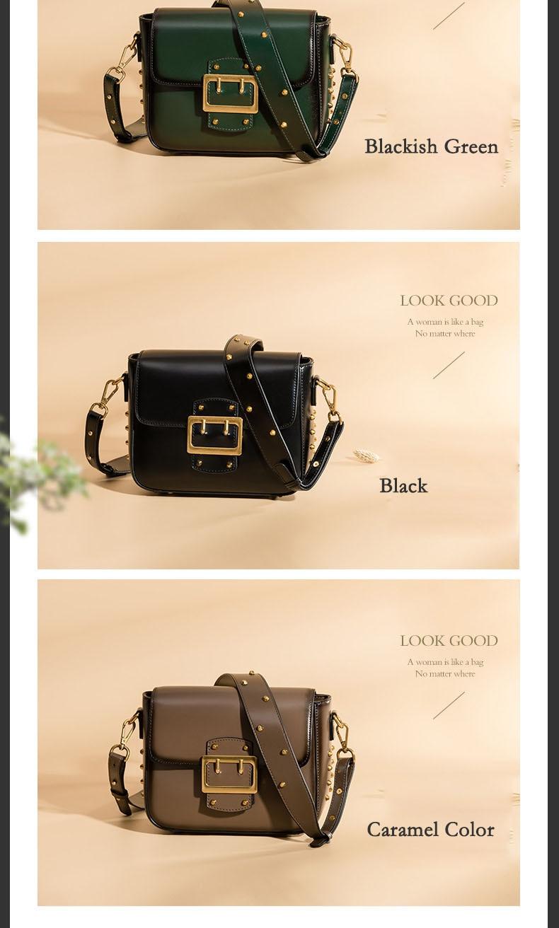Vintage Real Leather Wide shoulder strap Handbag premium quality fashion genuine leather Shoulder Bags of Famous Brand (13)