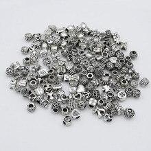 Произвольно смешанные бусины подходят Pandora амулеты античное серебро Металл цинковый сплав DIY амулеты разделитель изготовление бусин и ювелирных изделий 30 шт./лот