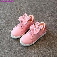 HaoChengJiaDe Kids Shoes Girls Sneaker New Brand Design Spring Sport Fashion Girls Shoes Running Breathable Rabbit