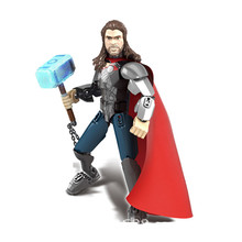 sermoido Building Blocks Lady Thor Super Hero Loki Knight Scarlet Witch Heimdall Collection Children Gift Toys Sermo