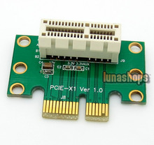 PCI-Express PCI-E 1x Male to Female Riser Card Extender 90 Degree L Shape Adapter