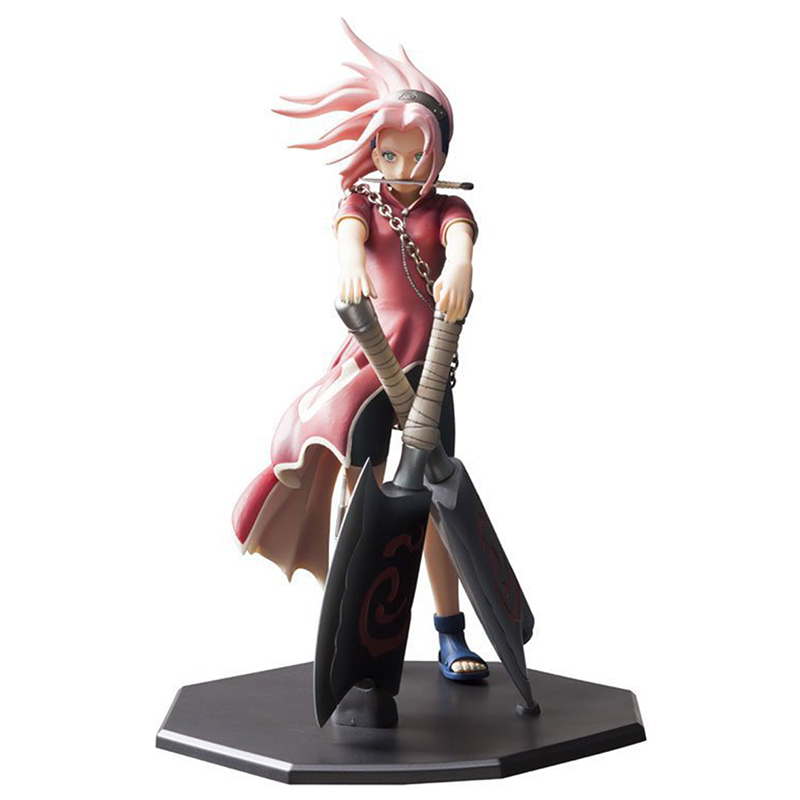 Sharingan Haruno Sakura Naruto Action Figures Toys Japan Anime Naruto Figure Collection PVC Model Toy as Gift 23cm N142 new hot 23cm naruto haruno sakura action figure toys collection christmas gift doll no box