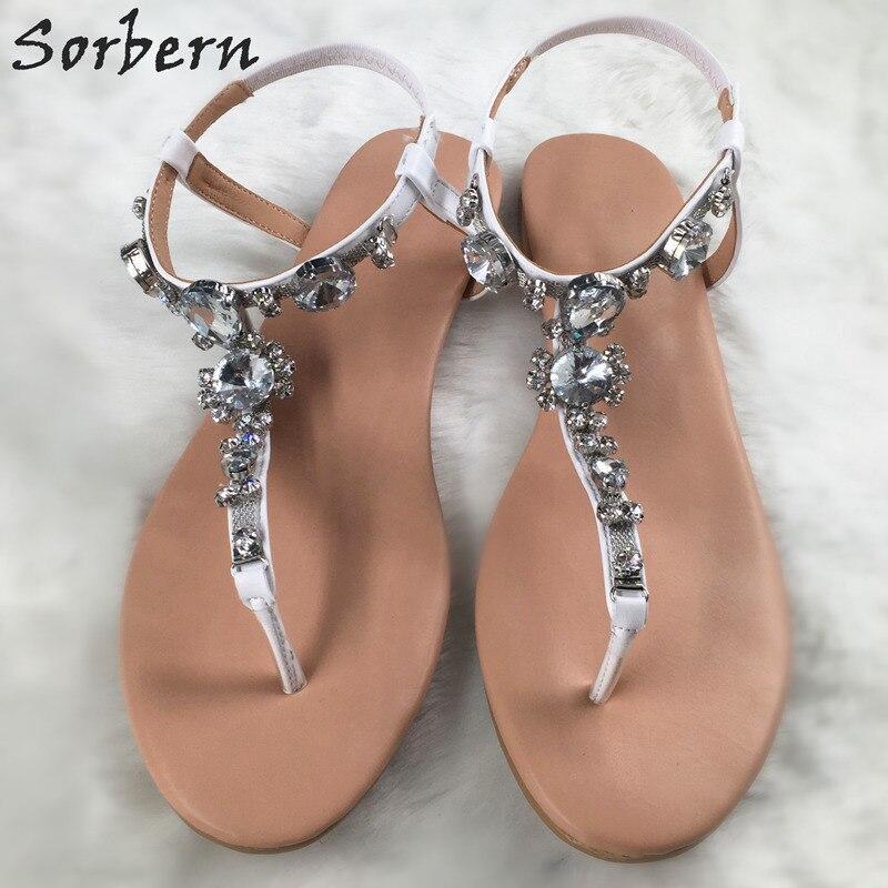 Sorbern Casual Style Flat Women Sandals T-Straps Flip Flop Summer Shoes Women Buckles Sandals Ladies Fashion Shoes 2018 Women