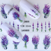 Get more info on the Nail Stickers on Nails Blooming Flower Stickers for Nails Lavender Nail Art Water Transfer Stickers Decals