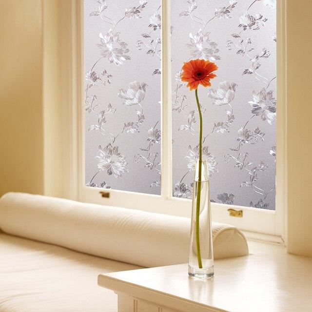PVC Water Lotus patroon glas film slaapkamer woonkamer badkamer keuken  balkon ramen en glazen schuifdeur stickers in PVC Water Lotus patroon glas  film ...
