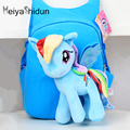 Meiyashidun Brand animal style Backpack 3D Rainbow horse Cartoon School Bag for Kids Cute Pony Minion Plush Children Bag Satchel