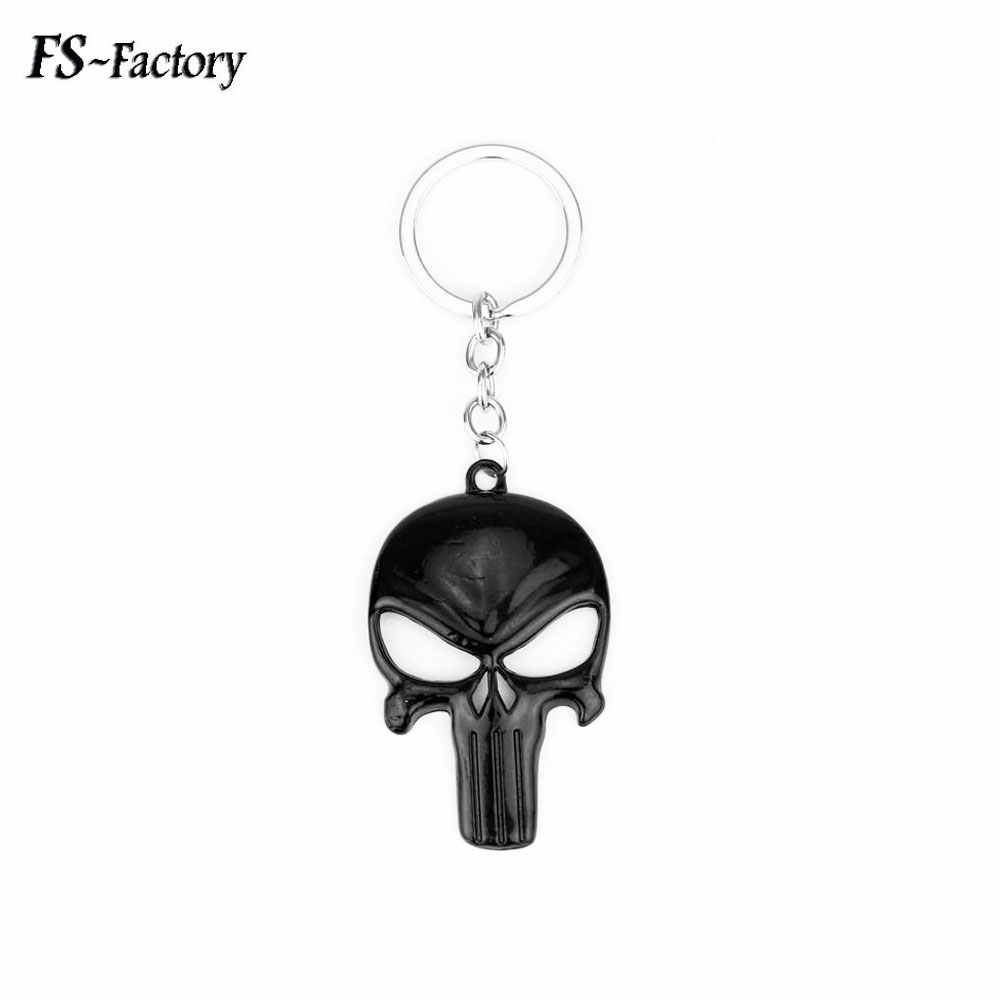HOT SELL The Punisher Máscara Esqueleto Keychain