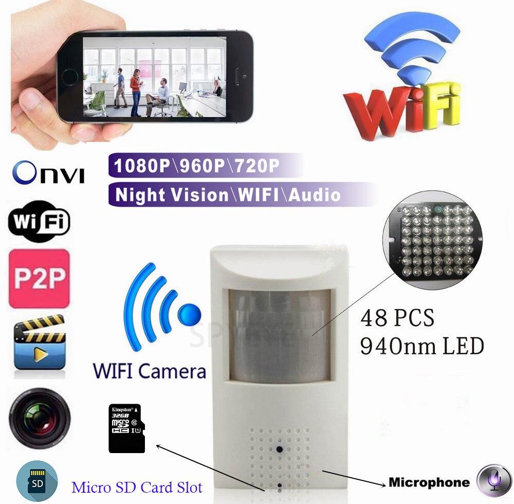 WI-FI Micro SD слот для карт 720 P 960 P 1080 P PIR Стиль Onvif проводной и Беспроводной IP Камера невидимыми 940nm ИК светодио дный Встроенный аудио