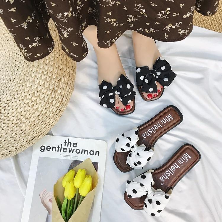 29755 P arco plano zapatos de mujer zapatos de moda en el verano de 2018 verano palabra procrastina desgaste