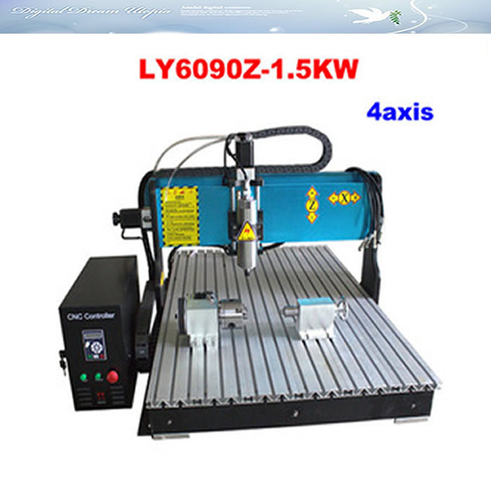 New arrival!!! High speed 4 axis CNC LY 6090Z-1.5KW Engraving Machine,cnc router  jft new arrival high speed 4 axis 800w affordable cnc router with usb port precision drilling machine for woodworking 6090