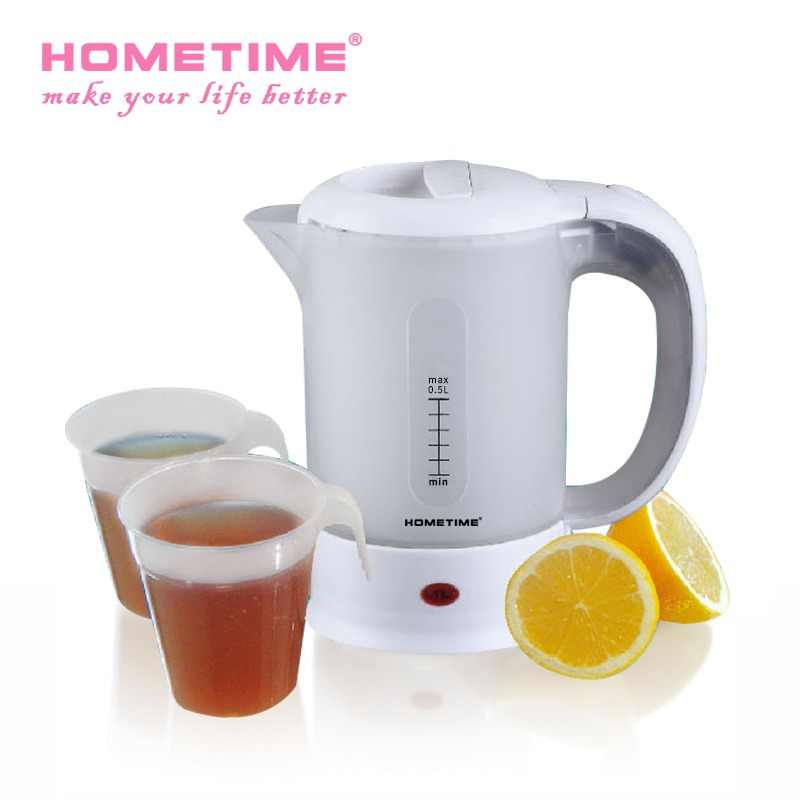 HOMETIME 0.5L mini automatic travel  portable  electric kettle  Coffee pot  Teapot 220V / 1000W  Automatic power off