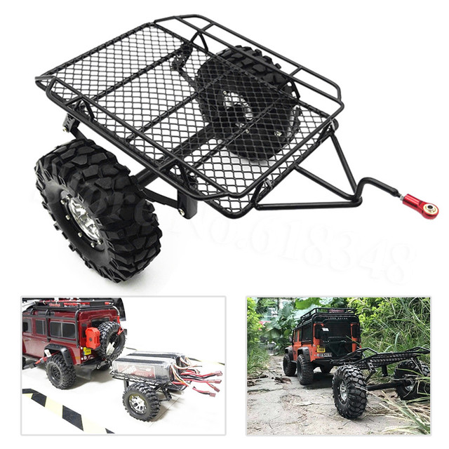 US $29 44 41% OFF Metal RC Trailer Hopper Frame Simulation For 1/10 Rock  Crawler Truck Trail Traxxas TRX 4 TRX4 Axial SCX10 RC4WD D90 CC01-in Parts  &