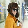 HT542 Новый Горячий Русский Шляпы для Зимнего Unisex Bomber Шляпы Шапки мужчины Женщины Зима Траппер Шляпы России Ушанка Шапки Полосатый Лыжный Cap