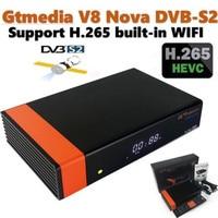 2 шт/комплект Freesat V8 новое обновление спутниковый ТВ ресивер Gtmedia V8 Нова» и встроенным модулем Wi Fi H.265 Европа Клин 1 год DVB S2 декодер