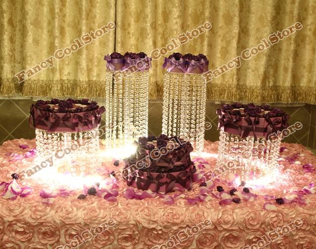 4pcs/lot wedding centerpiec,Table Centerpiece/wedding acrylic crystal cake stand/Wedding Decoration 04D1