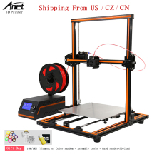 Aluminum Frame And Steel Case Easy Assembly Desktop 3d Printer High Printing Speed 120MM/S Anet E12 3D Shipping Free US