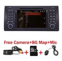 Оригинальный UI 7 автомобиль DVD gps для BMW E39 X5 E53 с gps Bluetooth Радио RDS USB SD рулевого управления колеса бесплатная Камера