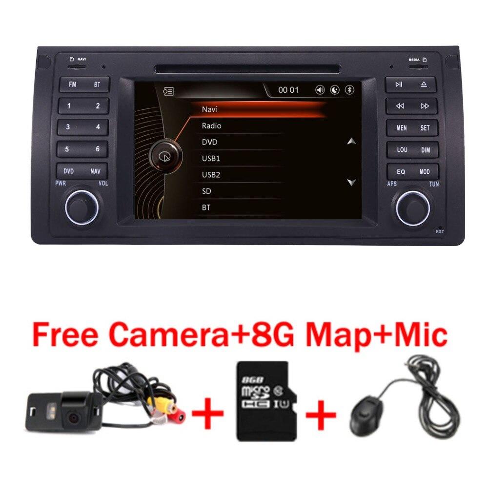 D'origine UI 7 Voiture DVD GPS Pour BMW E39 X5 E53 Avec GPS Bluetooth Radio RDS USB SD Directeur roue contrôle Caméra Libre
