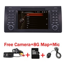 2015 New 7 Car DVD GPS For BMW E39 X5 E53 With Canbus free camera