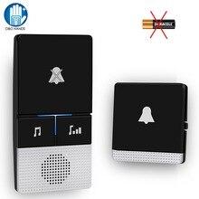 Self Powered Wireless Doorbell 433 MHz Remote Control Door Bell no Battery Home
