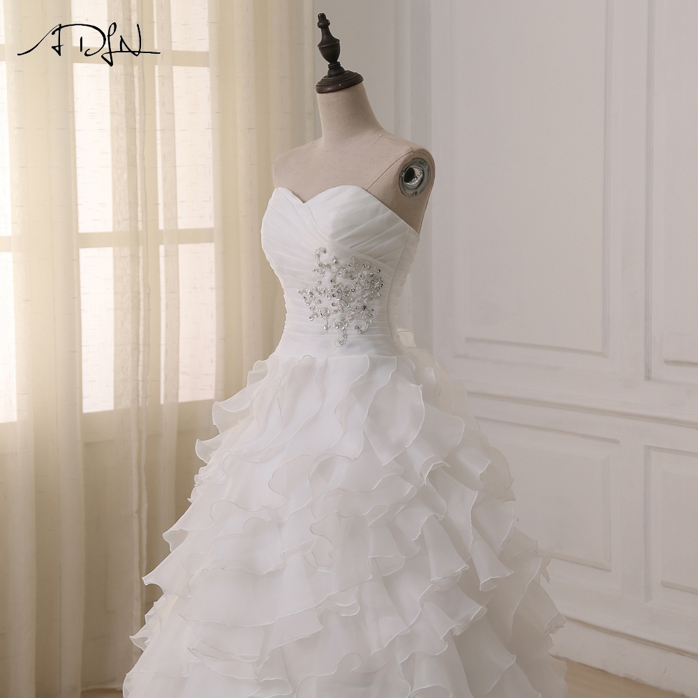 Hot Selling Sweetheart Ruffled Organza Bruidsjurken Sleeveelss - Trouwjurken - Foto 5