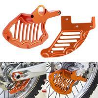 CNC Front Rear Brake Disc Guard Orange For KTM 125 200 250 300 350 400 450 525 530 EXC XCW SX SXF XC MXC 2004 2014