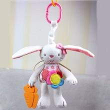 New Baby Toy Soft Plush Rabbit Baby Rattle Ring Bell Crib Bed Hanging Animal Toy(China)