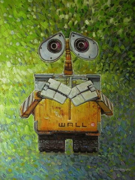 Print Painting Art On Canvas Movie Wall E Robot Children Room Decor Kids Picture Cartoon