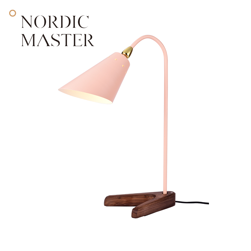 Nordic Master Walnut Base Table Lamp Desktop Office Lamp for Work Study Vintage High School Desk Lamps Light Fixtures 60133T-1 tannoy definition dc8 high gloss walnut