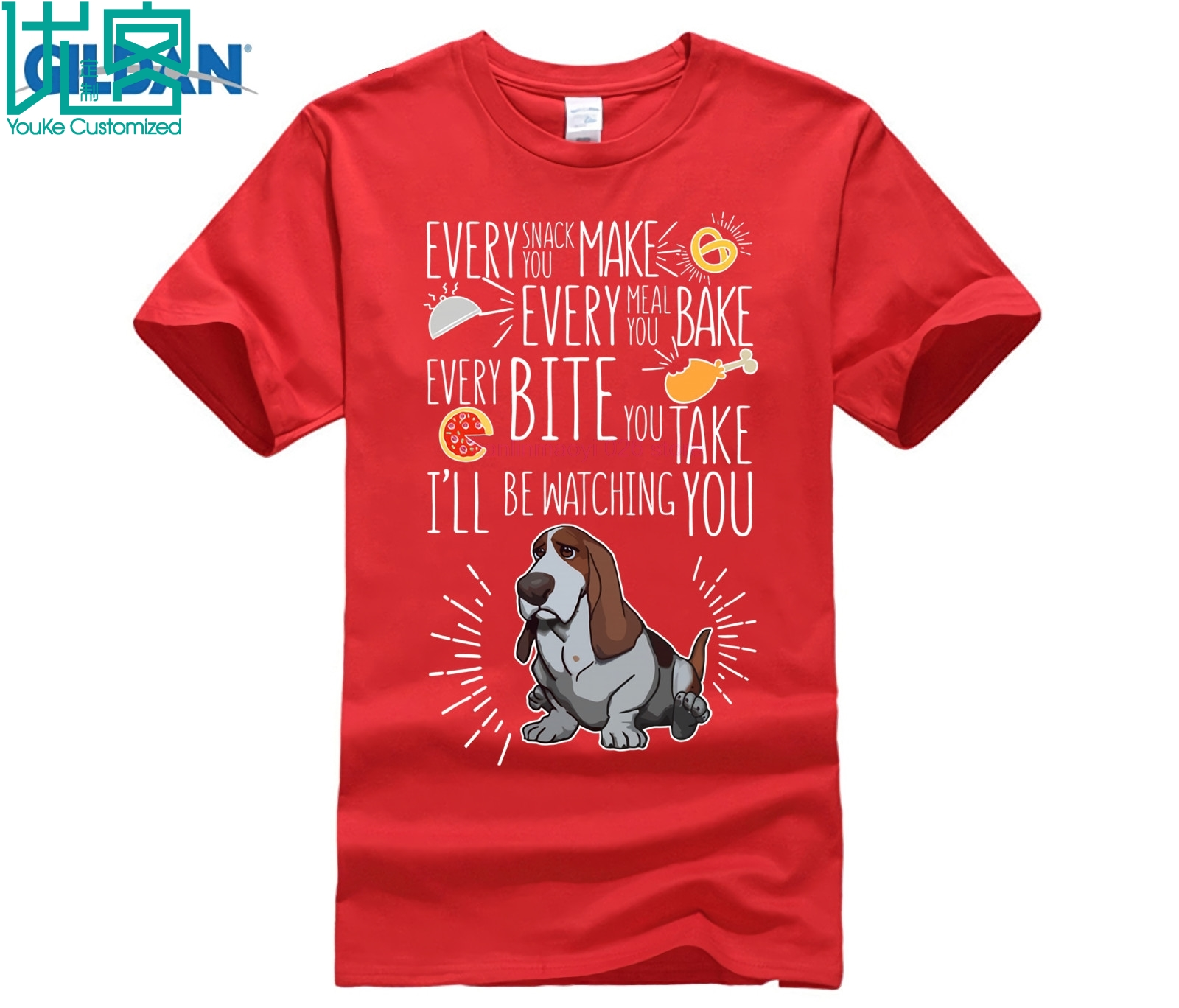 Every Meal You Make I 39 ll Be Watching Basset Hound Shirts in T Shirts from Men 39 s Clothing