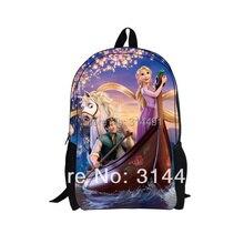 Forudesigns 3D мультфильм Для женщин школьный рюкзак принцессы Рапунцель модные Колледж студент рюкзак для подростка Meninas сзади Сумки