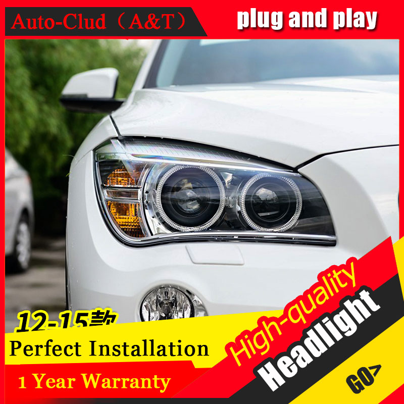 Auto Clud Car Styling For BMW X1 led headlights 12-15 For X1 head lamp led DRL front light Bi-Xenon Lens Double Beam HID KIT auto clud car styling for bmw 1series e87 120i 130i headlights for e87 head lamp led drl front bi xenon lens double beam hid kit