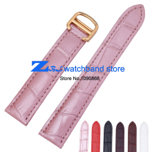 Genuine leather watchbands 16mm 18mm  20mm  female male watch belt strap wristwatches band gold clasp