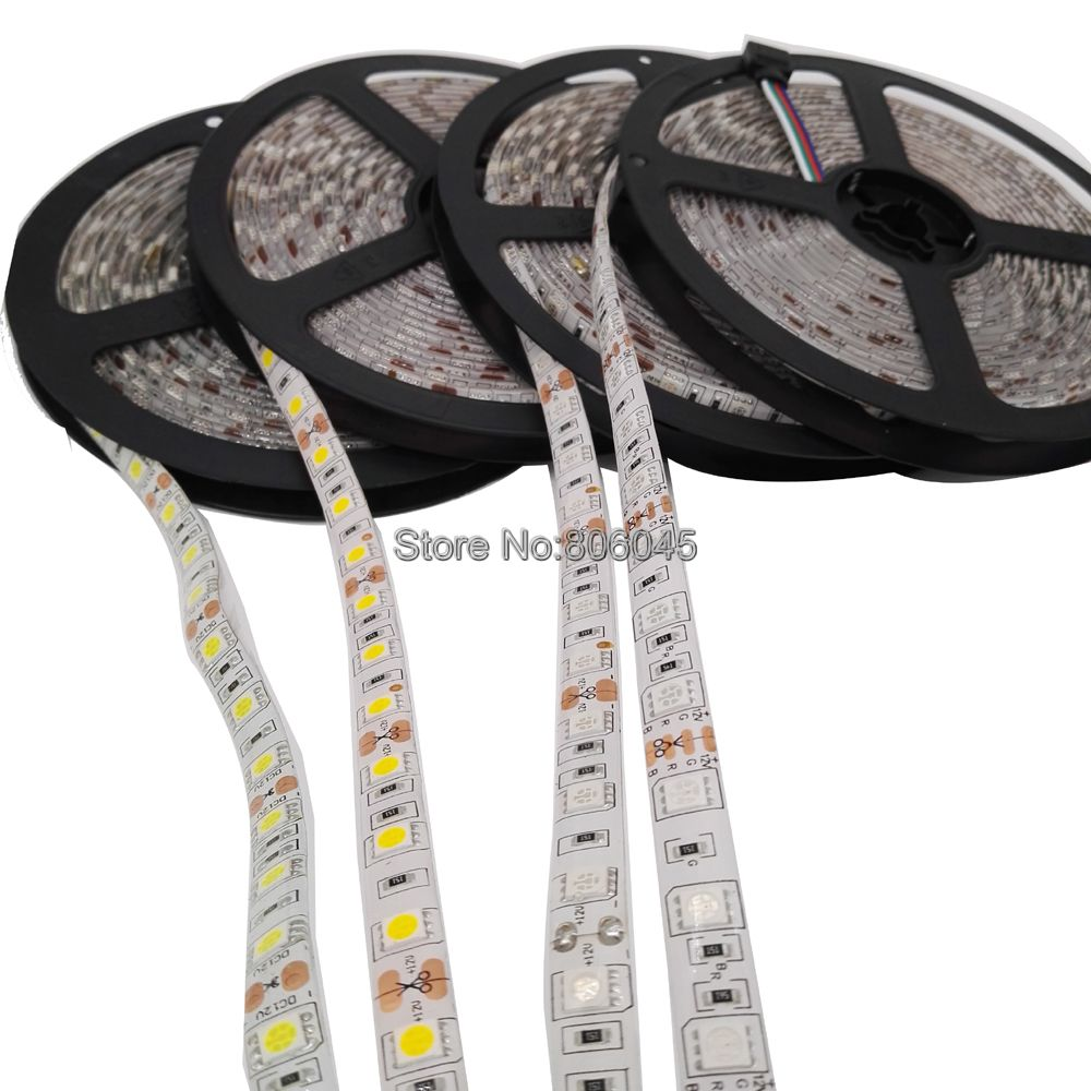5m 12V 5050 LED Strip 60LEDs/m Flexible LED Light Ribbon RGB RGBW 5050 SMD LED Strip 300LEDs